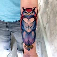 Beautiful abstract owl