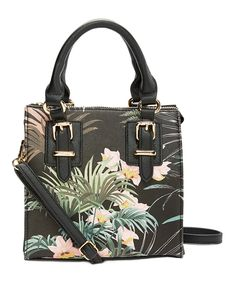 c555f3e9c3c8 Lionel Handbags Black Botanical Sammi Satchel