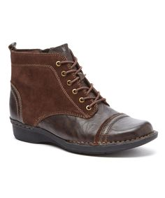 This Clarks Brown Whistle Watch Leather Boot by Clarks is perfect! #zulilyfinds