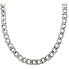 d525576b07d Stainless Steel 14mm Thick Curb Chain Necklace ( 37) ❤ liked on Polyvore  featuring men s