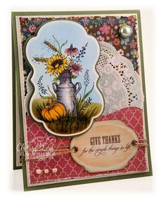 Ink Up: Delicate Doilies - Flourishes stamps colored with Copics