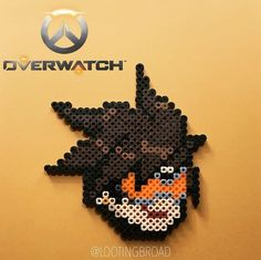 Tracer Overwatch perler beads by lootingbroad