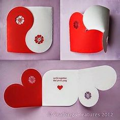 sevdiklerinize kolaylıkla yapıp gönderebileceğiniz kalpli kartlar...