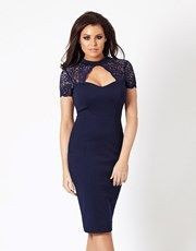 Absolutely gorgeous! This lace midi dress with keyhole detail from Jessica Wright summarises simplicity at its best. Simply team it with a pair of strappy heels and carry an embellished clutch for that chic look.