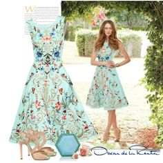 Oscar de la Renta SS 2014 by sella103 on Polyvore featuring Oscar de la Renta