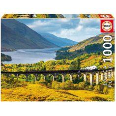 VIADUCTO DE GLENFINNAN ESCOCIA 1000 PIEZAS Dimensiones: 68 x 48 cm. Su referencia es: 16749. Sale a 7,50 €.