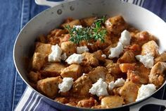 Chicken with feta cheese Food N, Food And Drink, Cookbook Recipes, Cooking Recipes, Greek Dinners, Greek Recipes, How To Cook Chicken, Food Dishes, Chicken Recipes