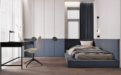 Study Room Design, Kids Room Design, Home Decor Bedroom, Modern Bedroom, Single Bedroom, Aesthetic Room Decor, Suites, Apartment Design, Home Interior Design
