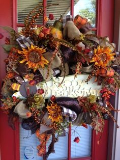 wreath thanksgiving | Thanksgiving Wreath | Wreaths