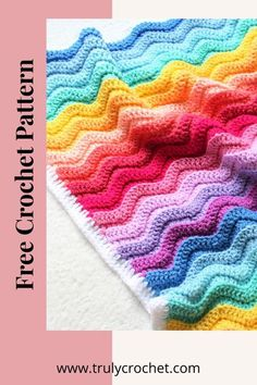 Looking for a homemade Christmas gift idea for baby or toddler? This baby blanket pattern is free and easy to follow. Beginner friendly blanket pattern in rainbow colours. This is the perfect crochet project for those seeking a rainbow baby blanket this Winter. #crochetblanket #crochet #crochetersofinstagram #handmade #crochetlove Crochet Baby Blanket Free Pattern, Crochet Blankets, Crochet Blanket Patterns, Free Crochet, Knitting Patterns, Crocheted Afghans, Beginner Crochet, Crochet Stitch, Baby Blankets