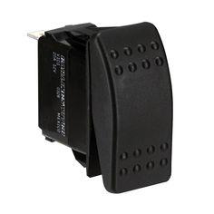 Paneltronics DPDT ON/OFF/ON Waterproof Contura Rocker Switch w/LEDs - Black [001-699]
