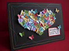 Valentine stamped card