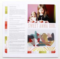 Sweet Anna Girl #scrapbooking @Studio_Calico