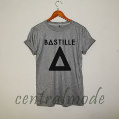 bastille band shirt bastille shirt music logo t-shirt grey sg25 on Etsy, $17.00
