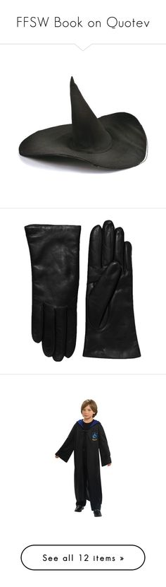 """FFSW Book on Quotev"" by bunnehbabe on Polyvore featuring hats, accessories, gloves, fillers, black, apparel & accessories, long leather gloves, long gloves, leather gloves and harry potter"