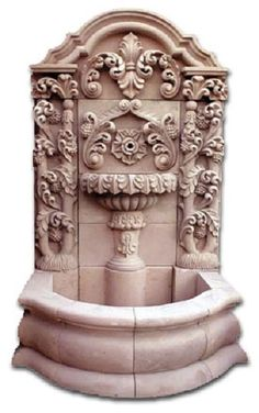 This extraordinary architectural stone fountain, handmade with round basin and free standing. In colonial state of Michoacan between town of Quiroga and Patzcuaro we produce hand carved stone fountains. Outdoor Ponds, Ponds Backyard, Pond Landscaping, Landscaping With Rocks, Stone Fountains, Water Fountains, Romantic Backyard, Natural Pond, Backyard Water Feature