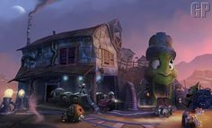 Gulch concept art from Disney Epic Mickey 2: The Power of Two.
