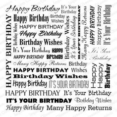 Embossing folder: Cover-a-Card Birthday Words