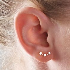 Stunning stars ear studsThese little ear studs are handmade using sterling silver with a polished finish. An elegant and contemporary piece of jewellery suitable for both everyday and evening wear. This item comes in a stylish jewellery box and makes a gorgeous gift for any occasion - Mother's Day or Valentine's Day, a present for bridesmaids or birthdays...And, of course, for Christmas These ear studs are delicate and small, approx 1.2cm in length .sterling silver / hallmark 925approx 1.2cm