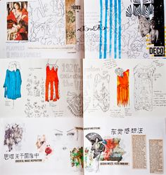 Modeconnect.com - Fashion sketchbook mood board by Anoushka Probyn
