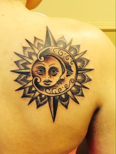 this tattoo is really meaningful to me, live by the sun, love by the moon an the compass in the background is there to guide me throughout my journey of life Sun Tattoos, Feather Tattoos, Trendy Tattoos, Forearm Tattoos, Unique Tattoos, Small Tattoos, Tattoos For Guys, Cool Tattoos, Tatoos