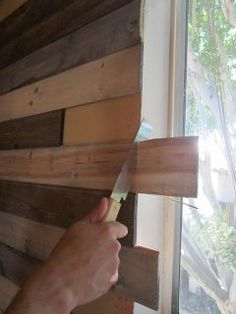 create a faux wood pallet wall wendy james designs