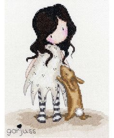 Gorjuss I Love You Little Rabbit Cross Stitch Kit £23.00 | Past Impressions | Bothy Threads