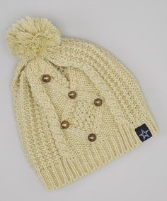 Take a look at this Tan Dallas Cowboys Knit Cap - Women by NFL on #zulily today!