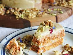 Raw Carrot Cake from Rawsome Vegan Baking - This raw vegan carrot cake from the Rawsome Vegan Baking cookbook is seriously delicious.