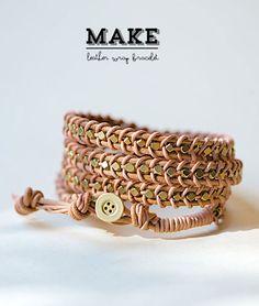 #diy leather wrap bracelet