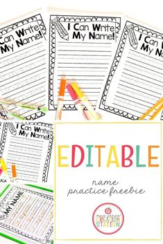 Teaching preschoolers, pre-k, and kindergarteners how to write their name is a task that all parents and early education teachers must face. There are many good name activities out there. However, this resource for writing names is easy and can be done independently by the students themselves. Grab this free editable printable and let your kids practice writing their names at home or in class. #homeschool #classroom #freeprintable #kindergarten #preschool #namesactivities
