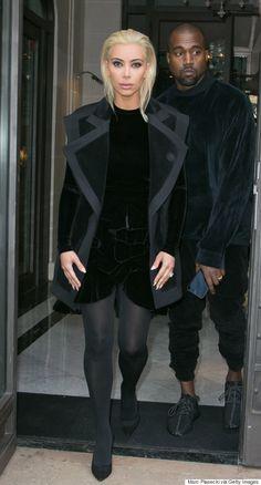 Kim Kardashian Goes Platinum Blond For Paris Fashion Week