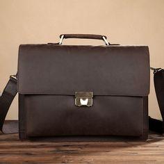 ROCKCOW 2016 New Fashion Men Leather Briefcase High Quality Laptop Office Bag Lawyer Messenger Handbag Teacher Business shoulder Bag 8018