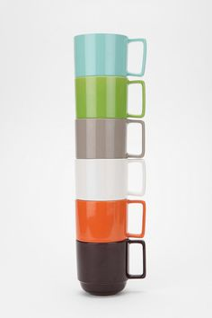 mug stackables via urban outfitters - I need to get the contents of my cupboards to match.