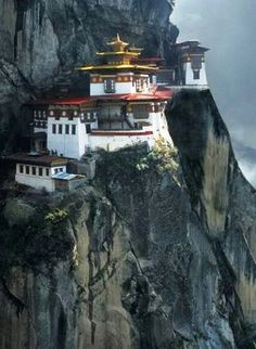Bhutan~Tiger's Nest Monastery.  I got so close to going there from Tibet.