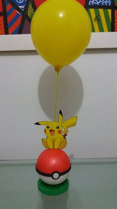 Birthday Party Centerpieces, Birthday Parties, Pokemon Balloons, Pokemon Party Decorations, Pokemon Birthday Cake, Party On Garth, Cute Baby Bunnies, Bunny Birthday, Candy Crafts