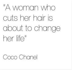 coco chanel quote hair