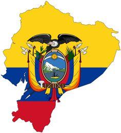 Flag-map of Ecuador. Made by Darwinek (Wikimedia)