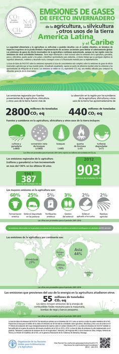 Emisiones de gases de efecto invernadero de la agricultura, silvicultura y otros usos de la tierra America Latina y el Caribe.