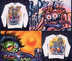 Levi's Vintage Clothing's Kustom Monster Sweatshirts by Von Franco