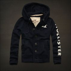 Hollister Men Navy blue Wipeout Beach Button down Sweatshirt hoodie in Clothing, , Mens Clothing, Sweats & Hoodies Abercrombie Outfits, Hollister Clothes, Hollister Mens, New Outfits, Winter Outfits, Summer Outfits, Mens Outdoor Jackets, Fade Styles, Polo T Shirts