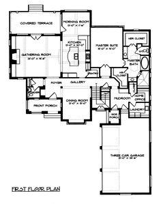 English Manor Home Plan Tudor House Plans