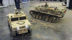 Big RC tanks on the battlefield - Große Panzer Modelle auf dem Schlachtfeld