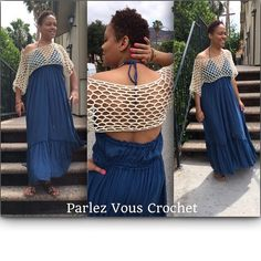 Crochet overhead short sleeves blouse This item is MADE TO ORDER. 100% cotton Tops Blouses