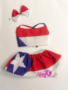 Puerto Rico Boricua Taino Flag Island Coqui Toddler Girls T Shirt Kids Cotton Short Sleeve Ruffle Tee