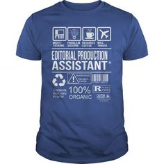 Awesome Tee For Editorial Production Assistant #shirt for teens #sweatshirt for teens. SATISFACTION GUARANTEED  => https://www.sunfrog.com/LifeStyle/Awesome-Tee-For-Editorial-Production-Assistant-104294832-Royal-Blue-Guys.html?68278
