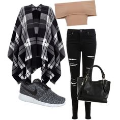 Out?? by mariamakbbh on Polyvore featuring polyvore, fashion, style, Lipsy, Miss Selfridge and NIKE