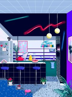 A quick Q&A with the Japanese master of '80s graphics who is totally obsessed with Los Angeles in its neon-lit prime.
