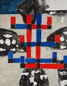 © John Walker ~ Coastal Cross - North Branch ~ 2011 at Tim Olsen Gallery Sydney Australia Post Painterly Abstraction, North Branch, John Walker, Sydney Australia, Abstract Expressionism, Oil On Canvas, Contemporary Art, Art Gallery, Museum