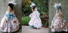 Best 18thC Halloween Costume ever! Princess Lily shows off her Robe a la Francaise. http://blog.teacupdinosaur.com/2013/11/halloween-2013-part-2-the-reveal-of-lilys-18th-century-robe-a-la-francaise-princess-dress/